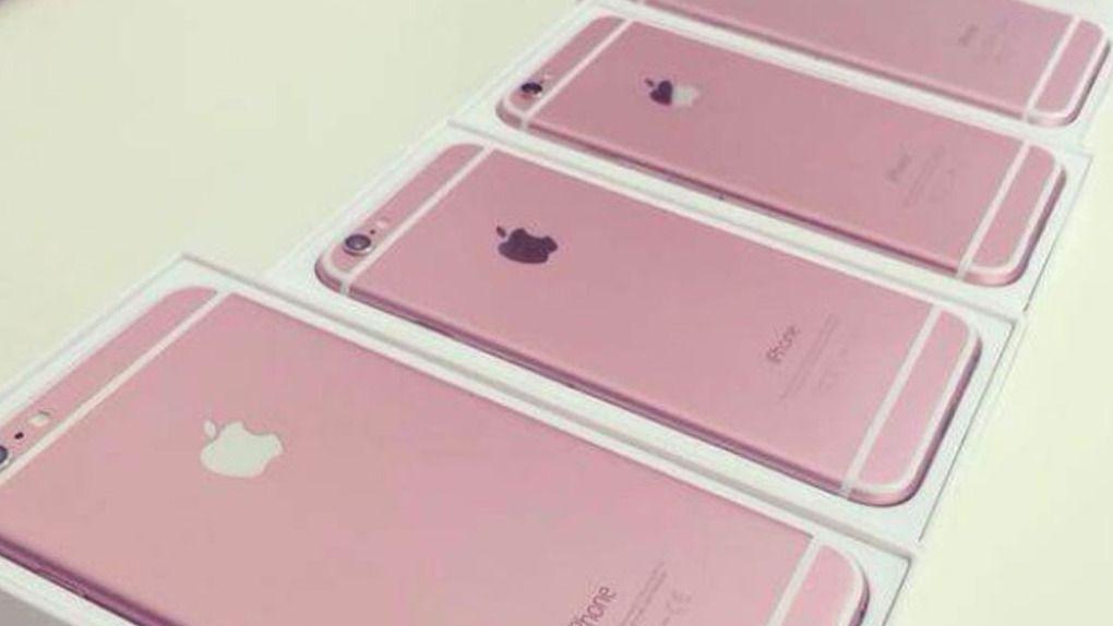 iPhone 6S skal ifølge noen rapporter komme i rosa, men enkelte hevder også at disse «lekkasjebildene» er falske. Foto: daliulian.net