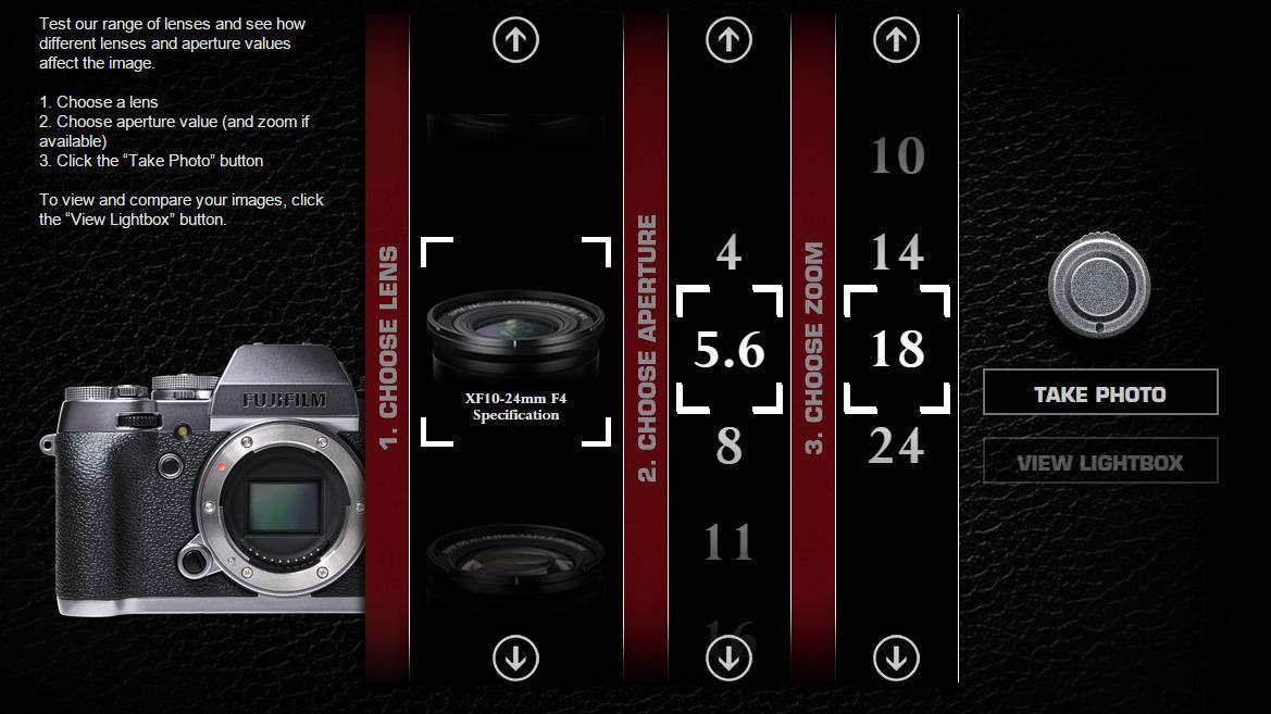 Nå kan du teste Fujifilms optikk fra lenestolen