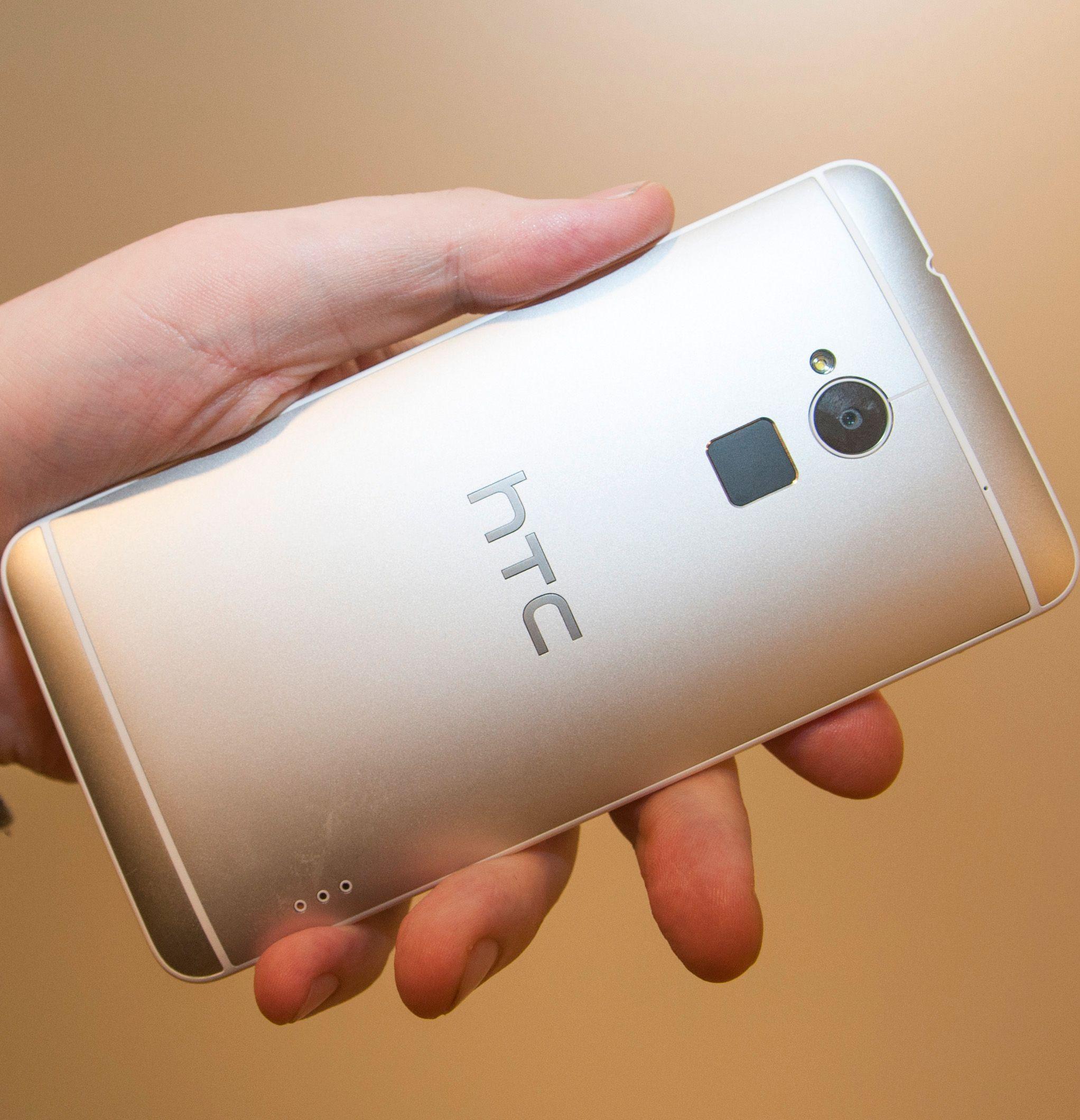 Slik ser baksiden på HTC One Max ut.Foto: Finn Jarle Kvalheim, Amobil.no