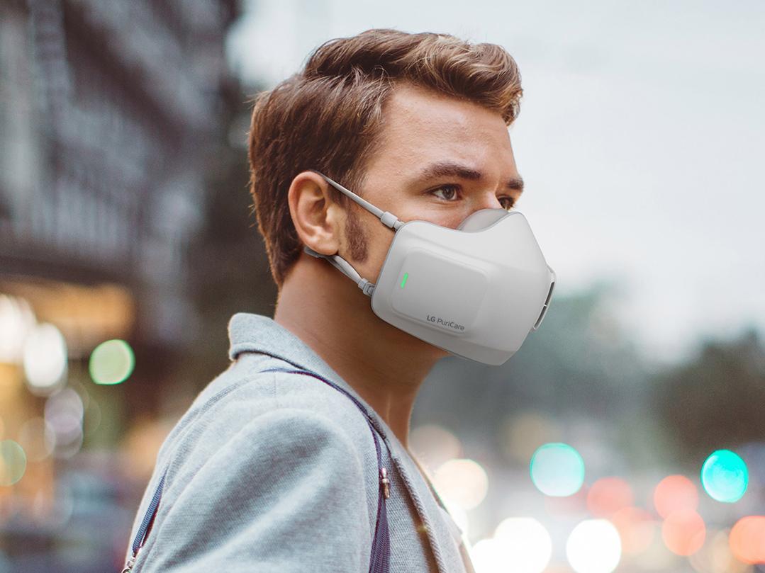 LGs batteridrevne ansiktsmaske skal gjøre det lettere å puste enn gjennom tradisjonelle tøymunnbind og lignende.