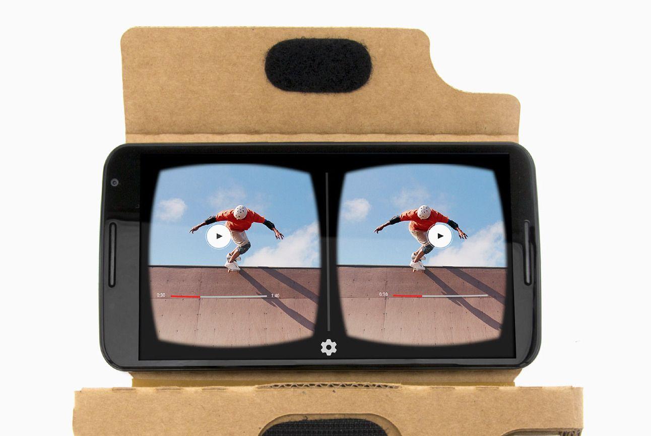 Slik ser VR ut i YouTube-appen. Foto: Google