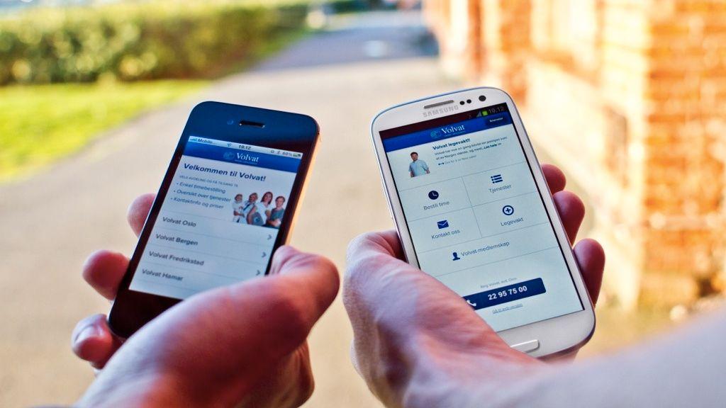 Satser på timebestilling via mobil