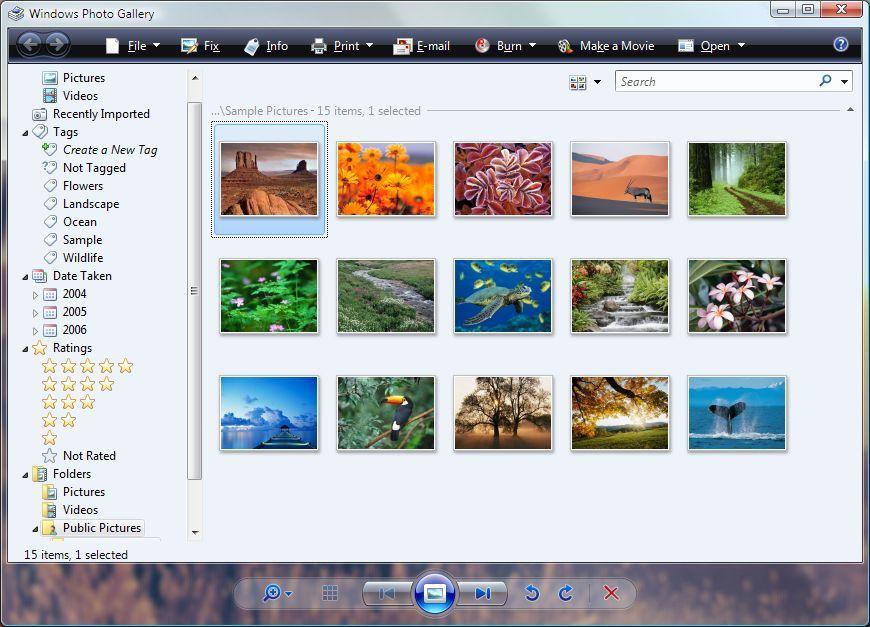 Windows fotogralleri dekker de fleste behov for grunnleggende bilderedigering Foto: Skjermdump fra Windows