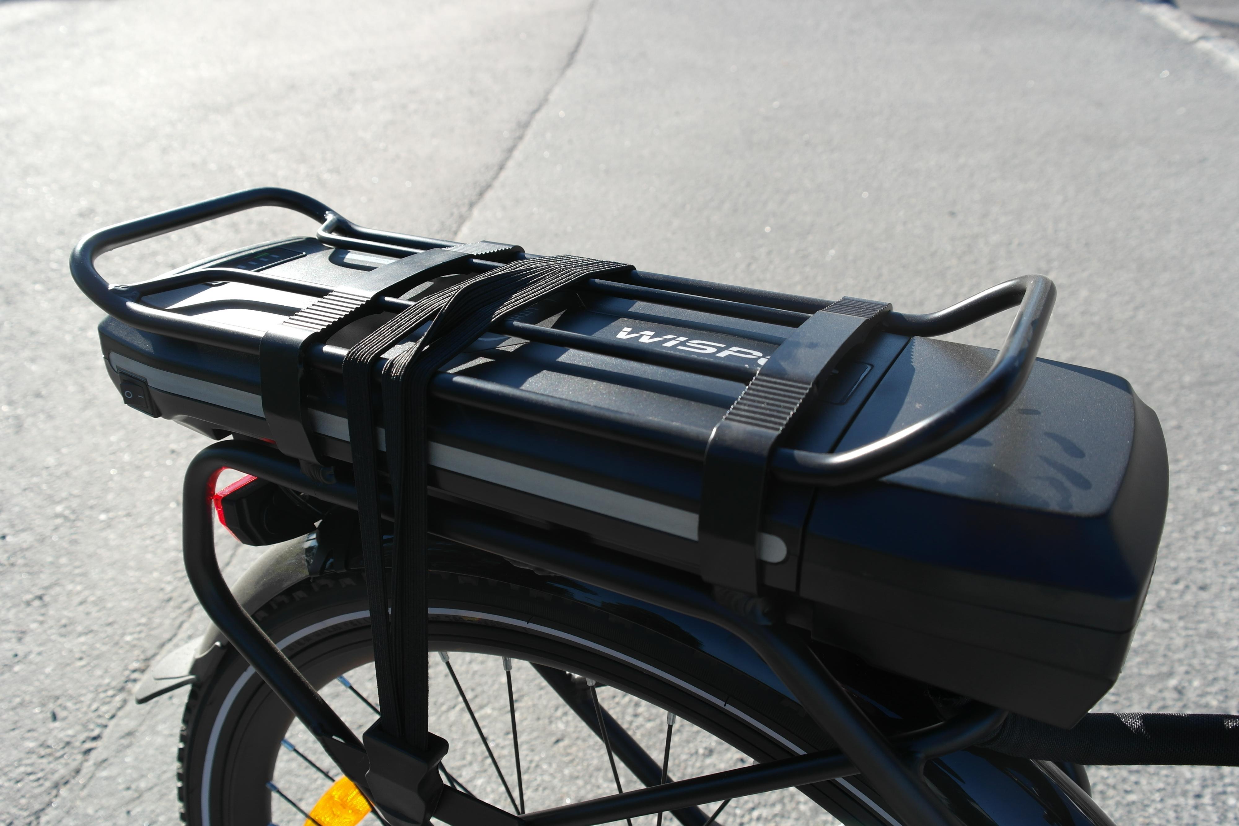 Wisper 905se kom med batteriet plassert ved bagasjebrettet. Det kan gi en litt baktung sykkel, men opplevdes ikke spesielt sjenerende i vår test.