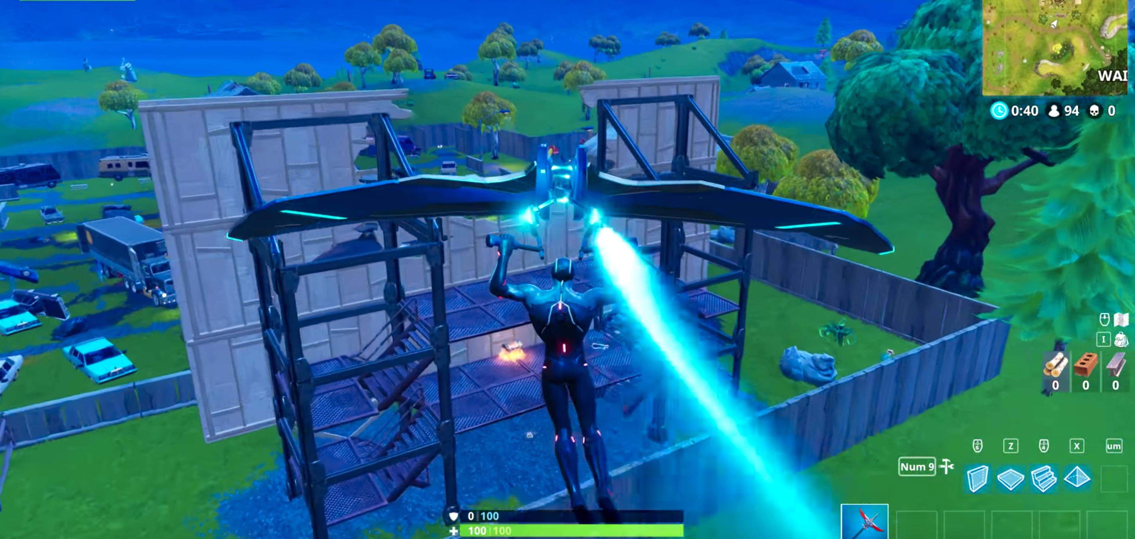 Her kan man se både en kiste og en shotgun med én gang – og ingen utfordrere rundt. En mer eller mindre optimal landing.