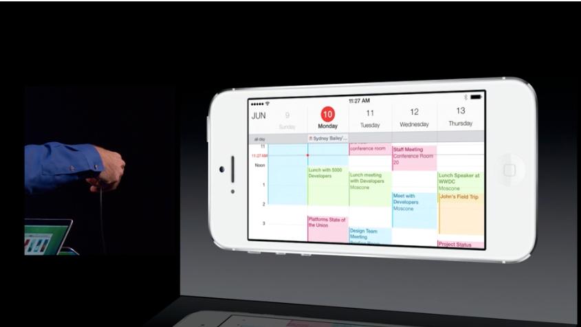 Kalenderen ser fin og minimalistisk ut.Foto: Apple