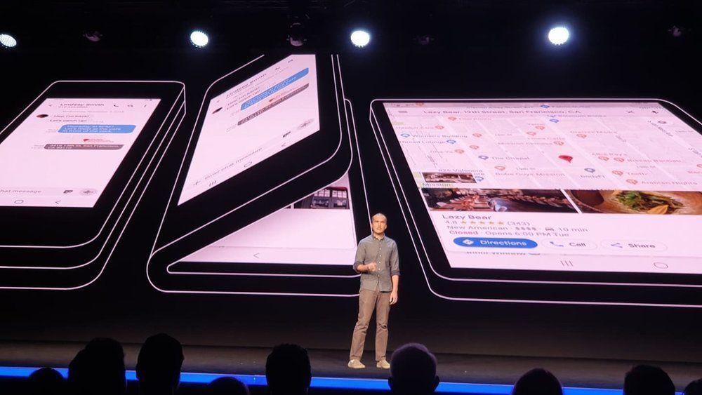 Slik ser Samsung for seg at deres brettbare telefon skal fungere.