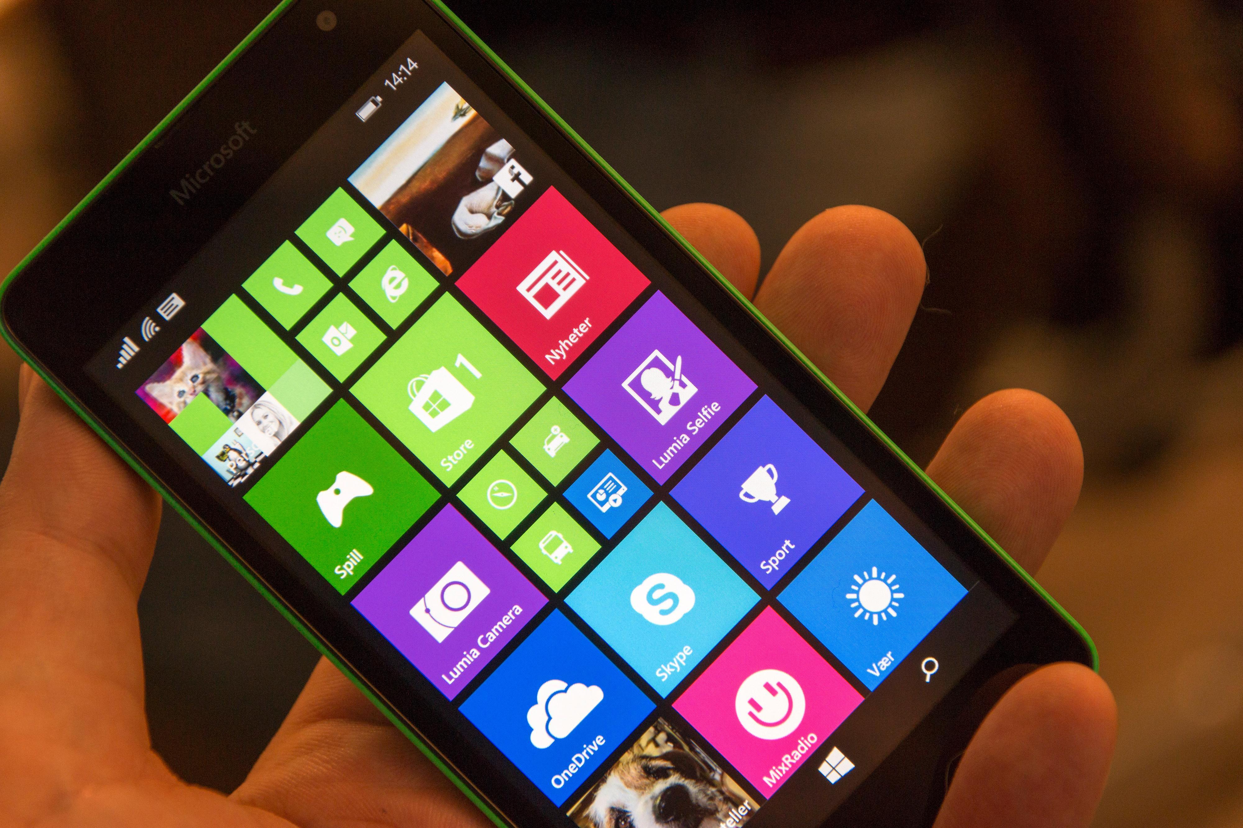 Windows 10 blir snart tilgjengelig på langt flere Lumia-modeller. Foto: Finn Jarle Kvalheim, Tek.no
