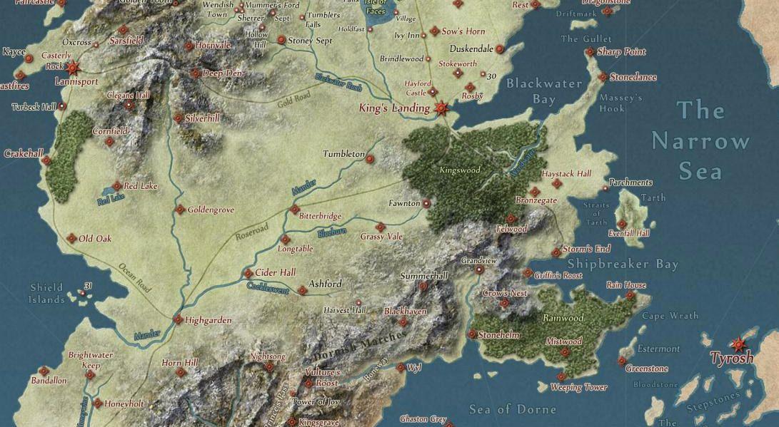 Utsnitt fra kartet på Quartermaster.net. Foto: Quartermaster.net