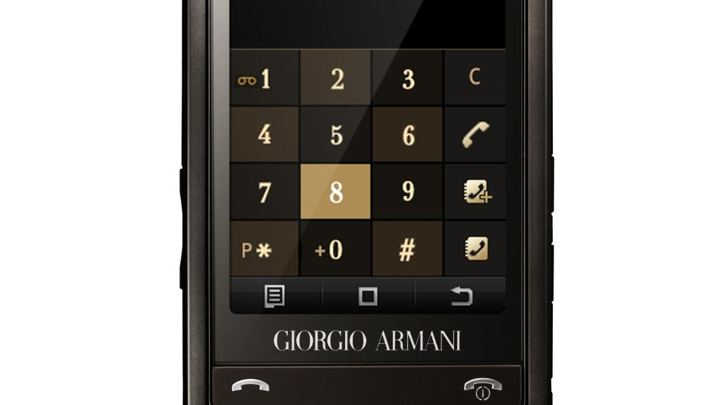 Armani-mobilen er lansert