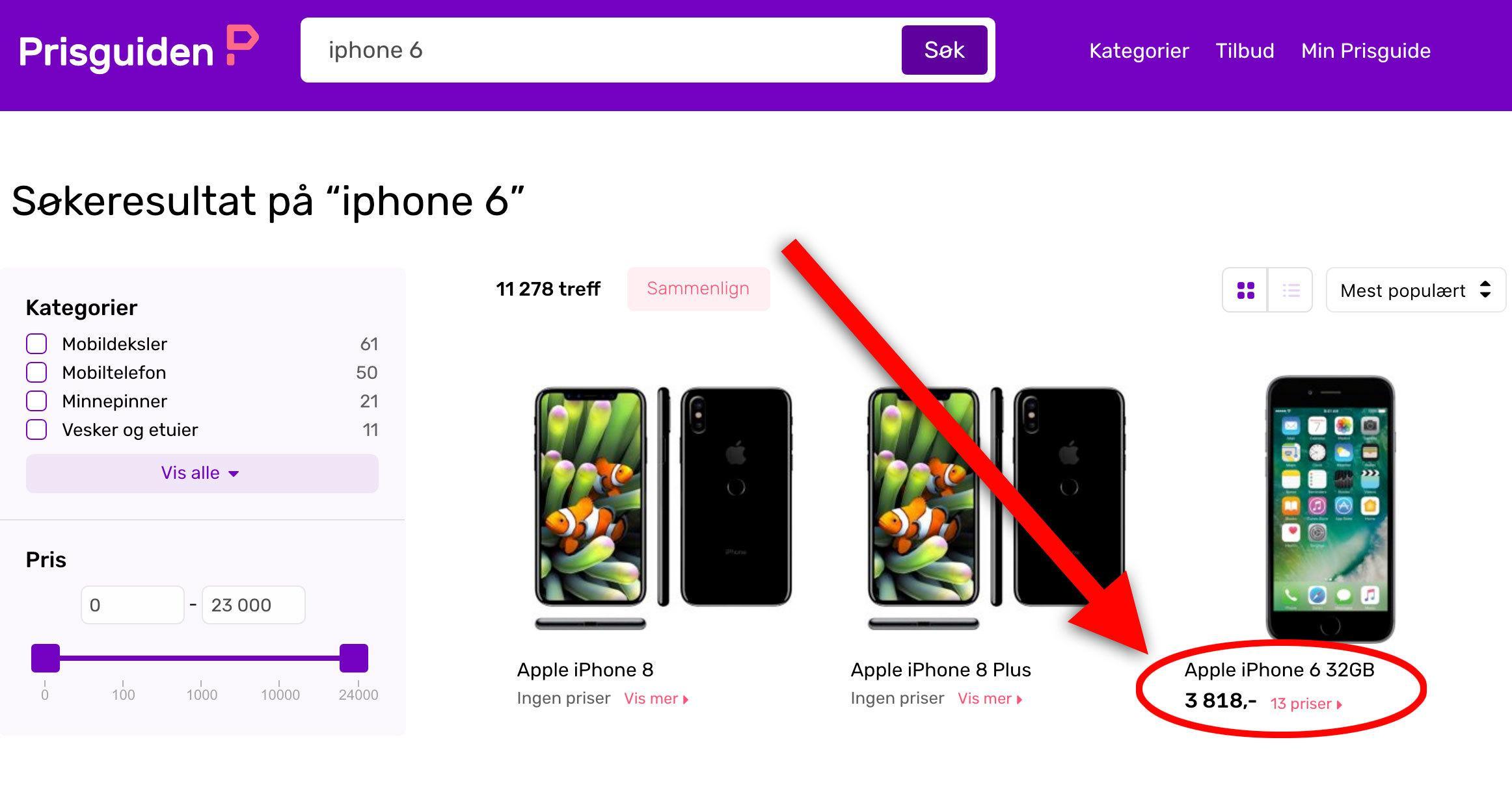Sjekk hva telefonen selges for som ny nå – det kan avsløre en annonse selgeren fronter som et tilbud, men som i realiteten ikke er det..
