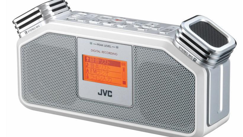 JVC med lydopptaker for gatemusikere