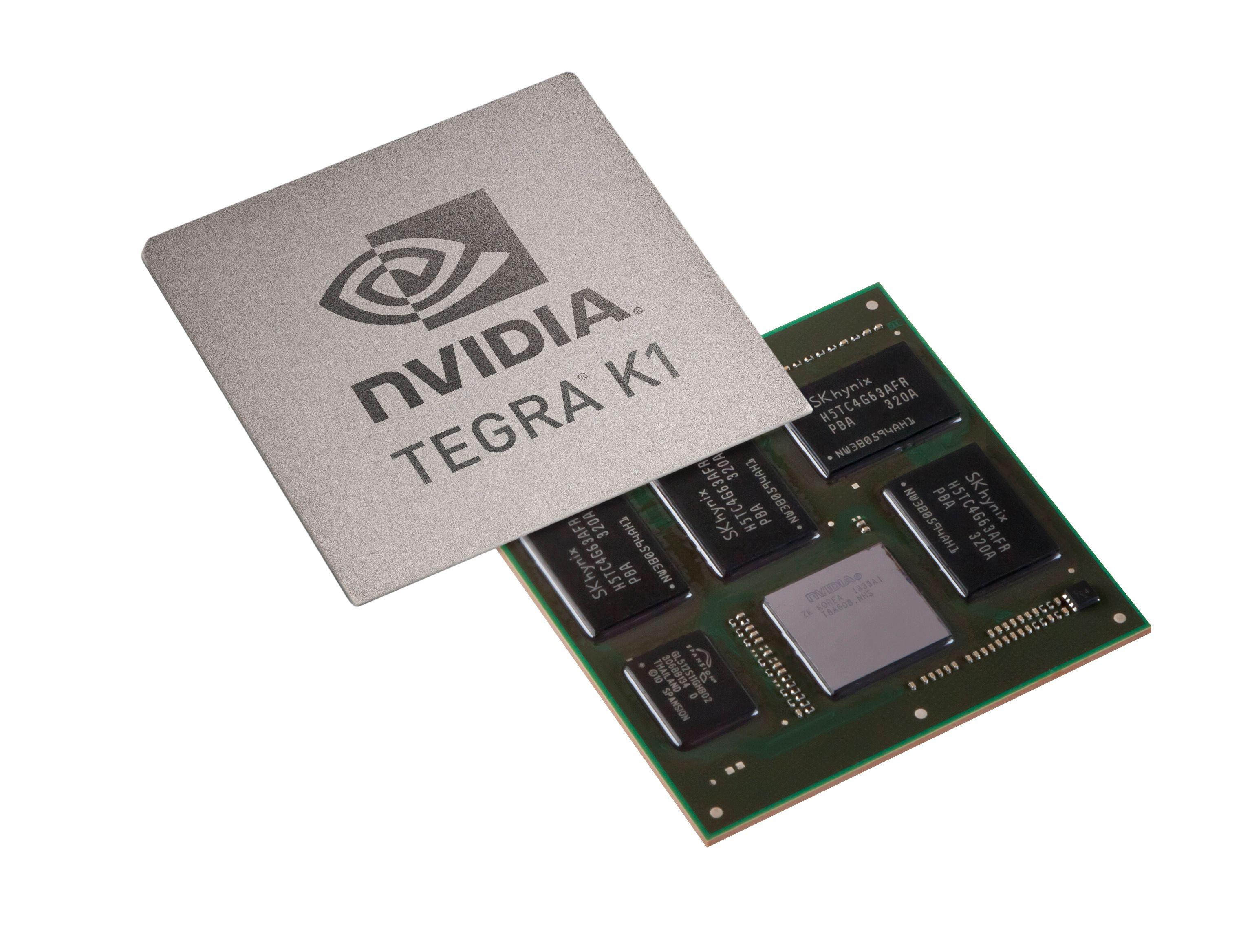 Nvidias Tegra K1 ble sluppet under fjorårets CES-messe og er muligens moden for en oppgradering.Foto: Nvidia