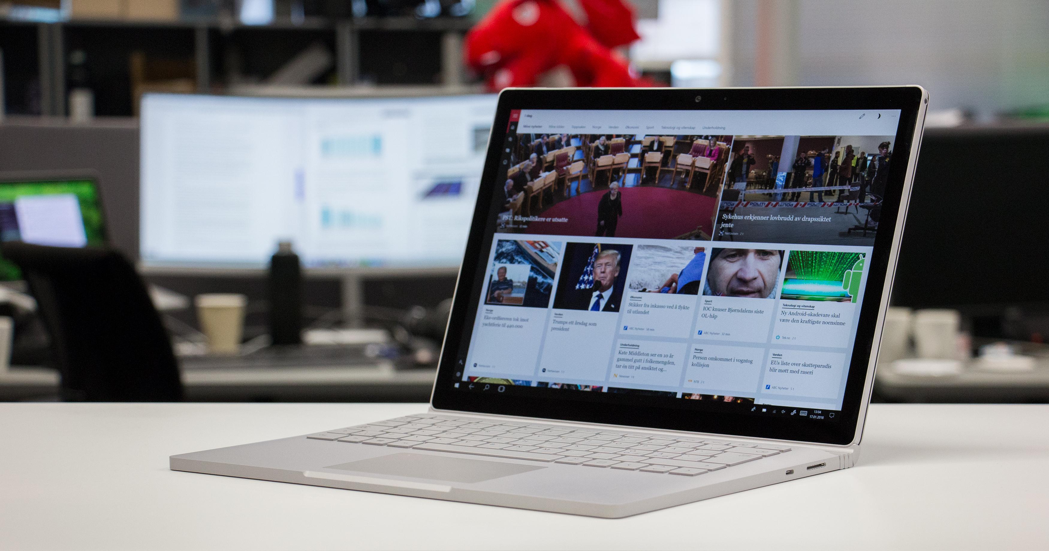 Surface Book 2 fungerer like godt som en tradisjonell bærbar som et nettbrett. Bilde: Anders Brattensborg Smedsrud, Tek.no