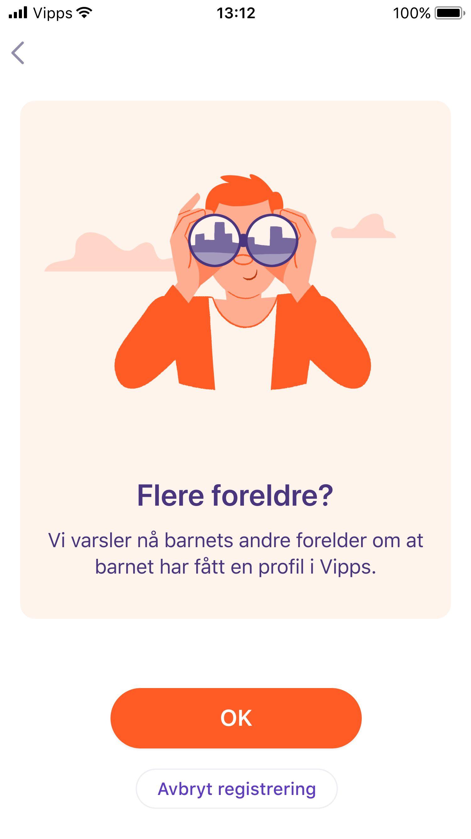 For å aktivere appen trenger barnet bare godkjennelse fra én av foreldrene, men for å kunne sende penger må begge foreldrene gi samtykke.