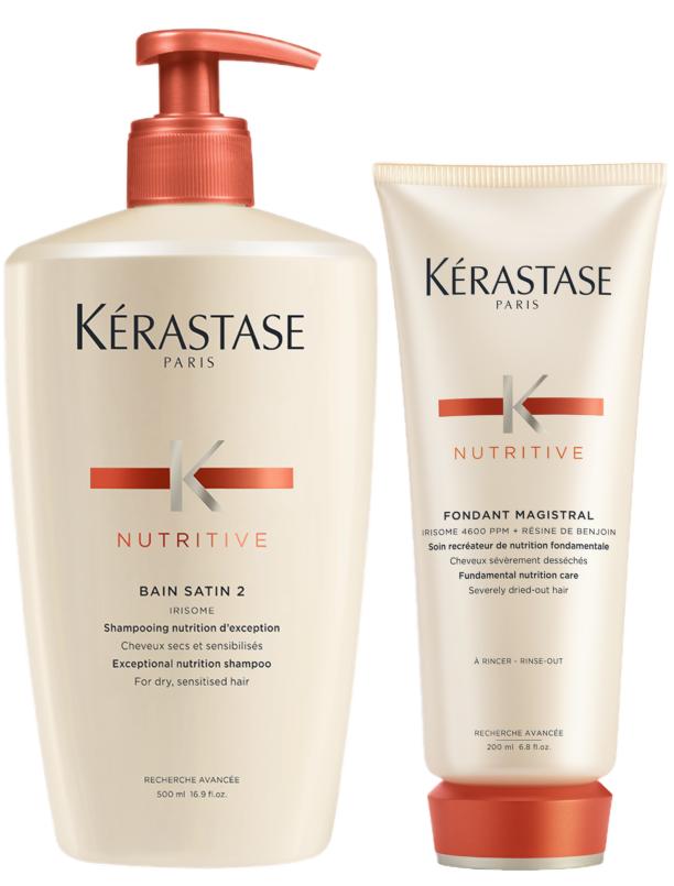 Duo med återfuktande schampo och balsam från Kérastase.