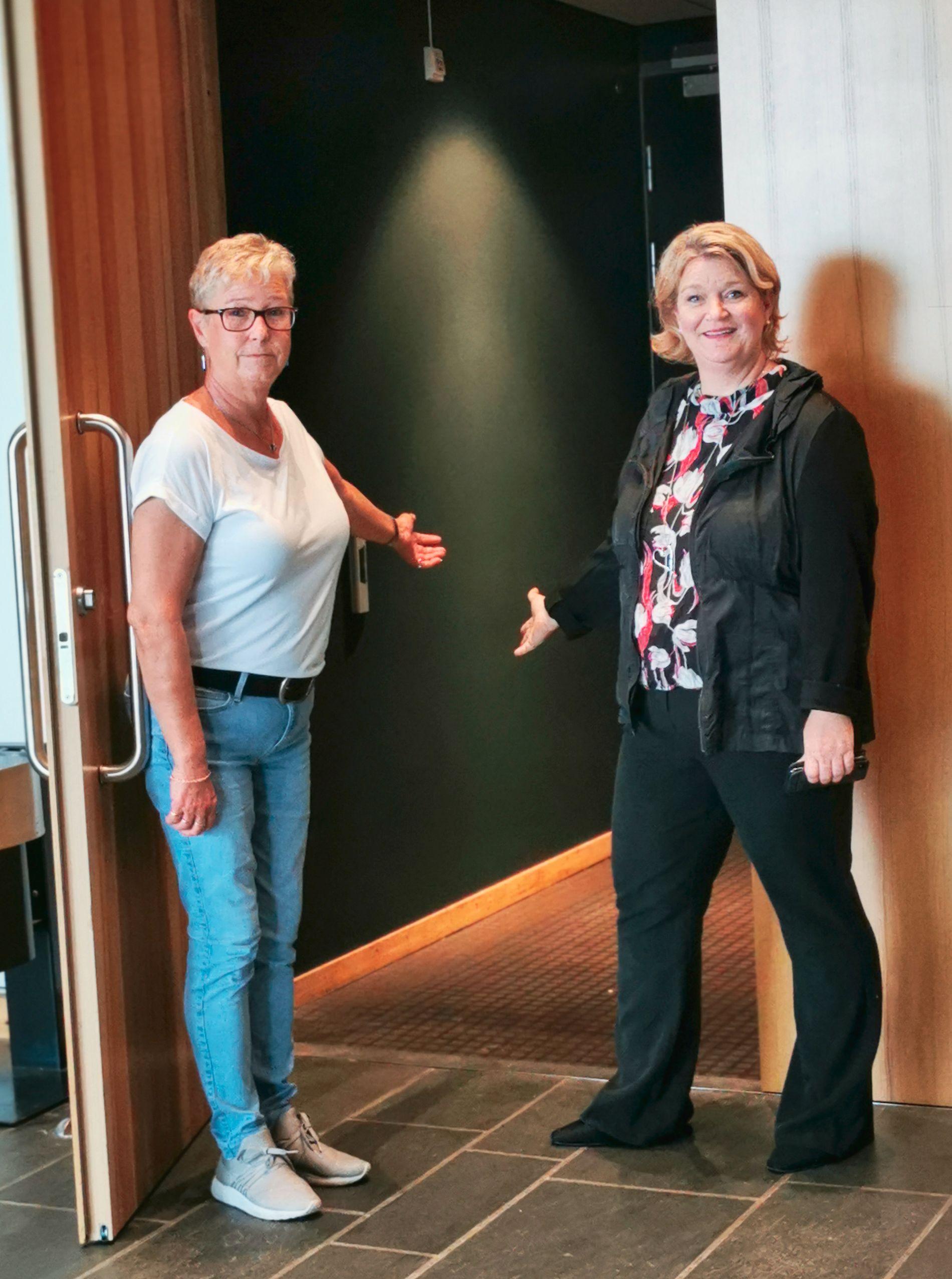 Gitte Jensen Engh and Nina Frivold at Ibsenhuset