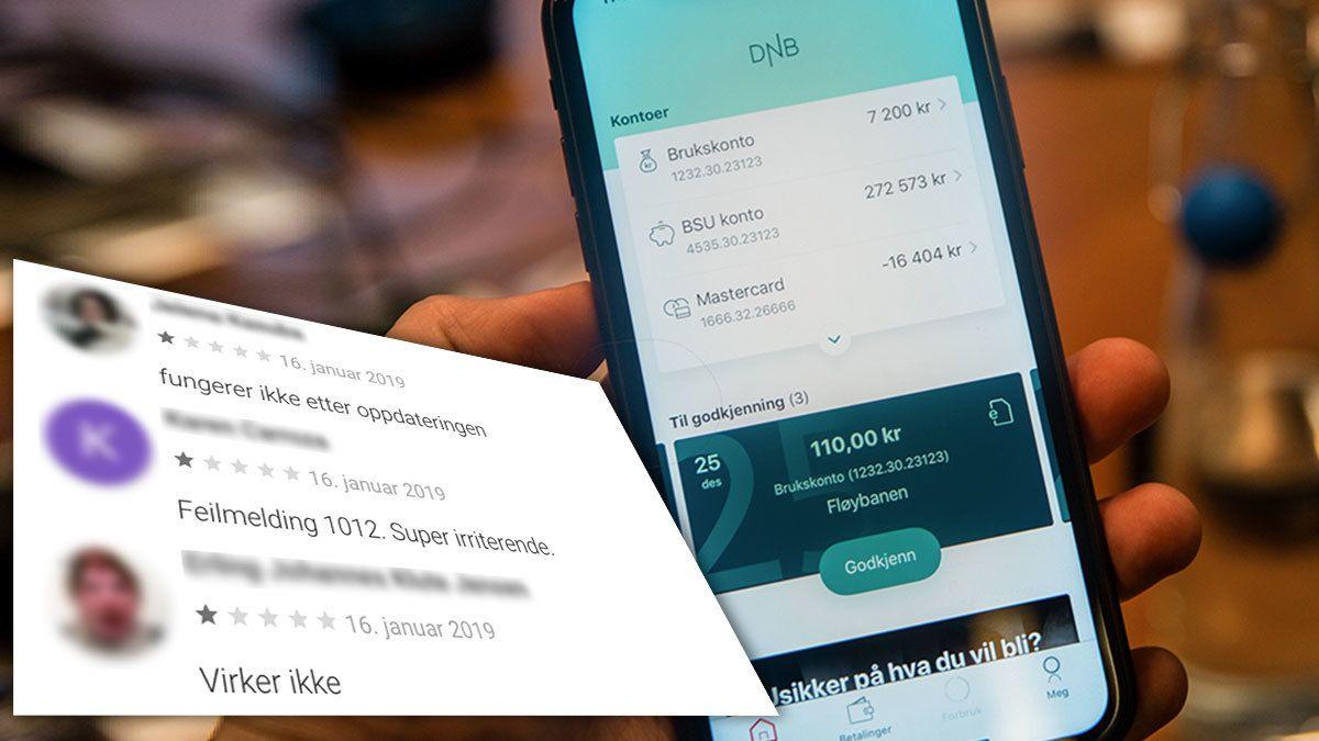 Brukere i harnisk over DNBs nye mobilbank-app