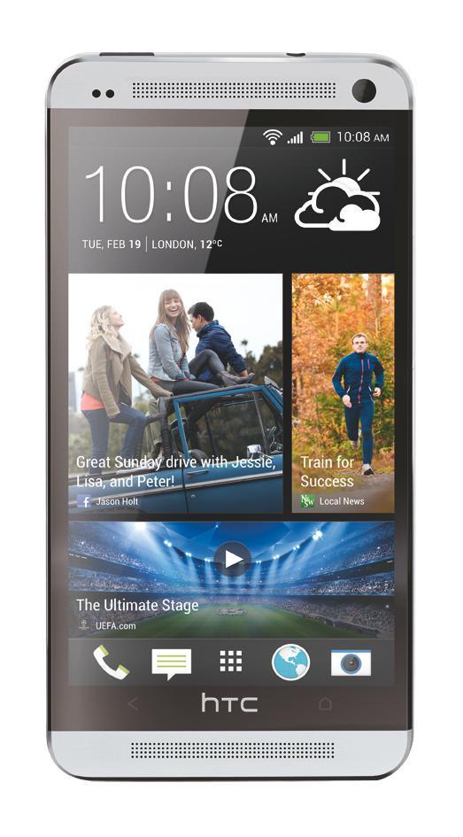 Slik tar HTC One seg ut på selskapets egne produktbilder.Foto: HTC