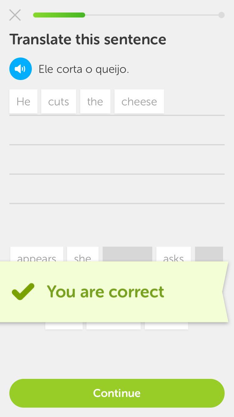 Falo um pouco português ...