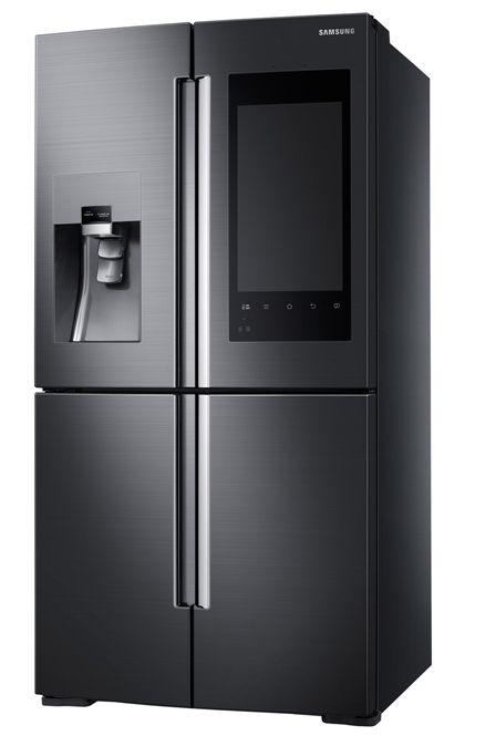 Slik ser det nye smartkjøleskapet ut.