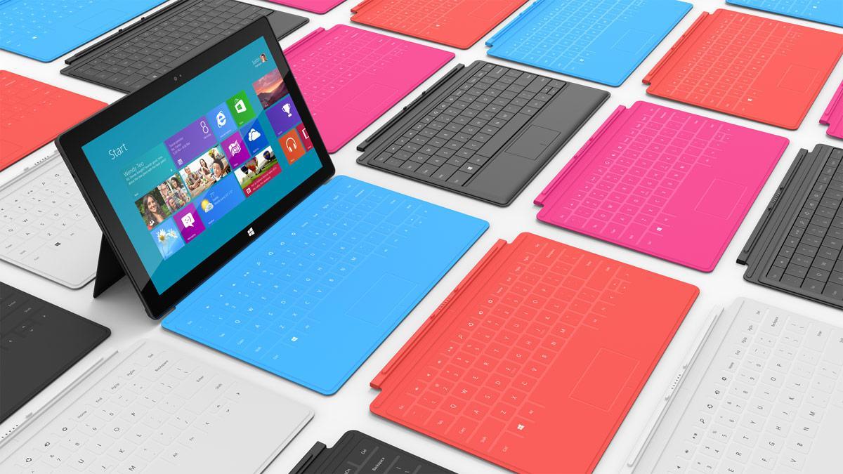 I første omgang kommer kun RT-versjonen av Microsoft Surface. .Foto: Microsoft