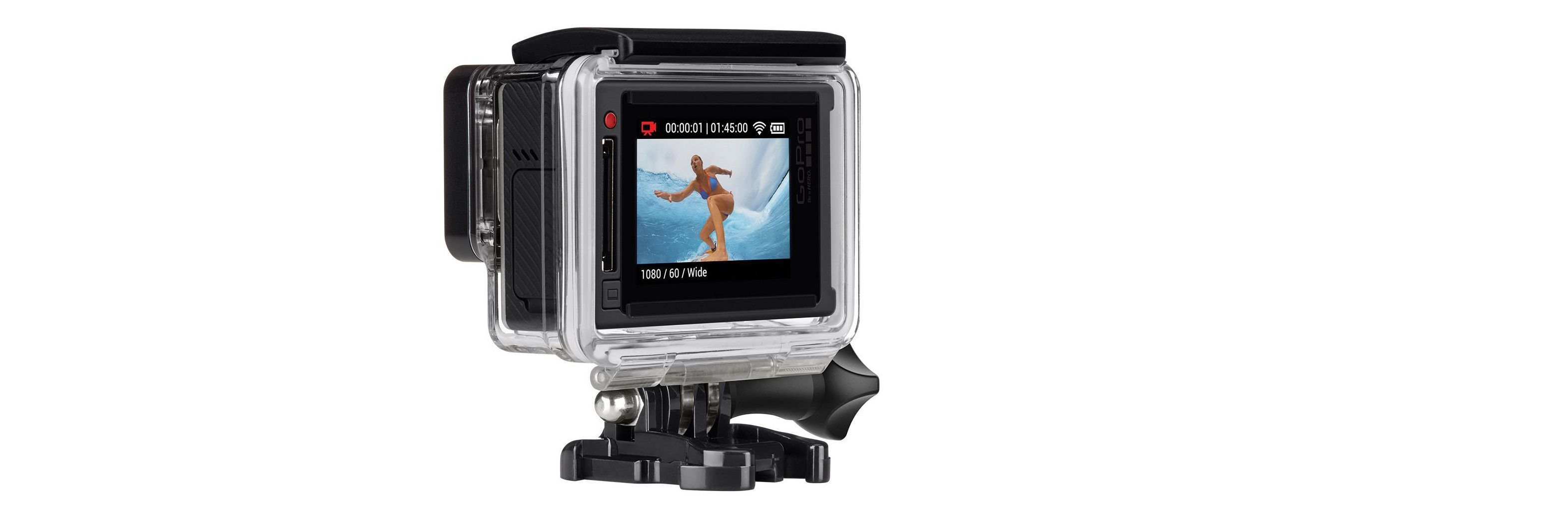 GoPro Hero4 Silver kommer med innebygd berøringsskjerm. (Foto: GoPro)