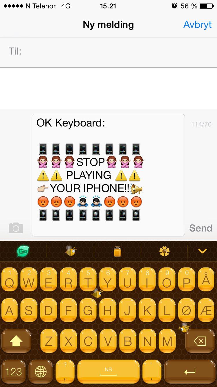 GO Keyboard, eller OK Keyboard som vi har skrevet i eksempelet, er noe for seg selv.Foto: skjermbilde
