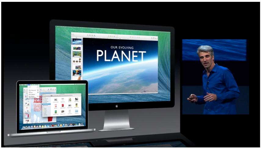 Det blir mye bedre støtte for flere skjermer.Foto: Apple