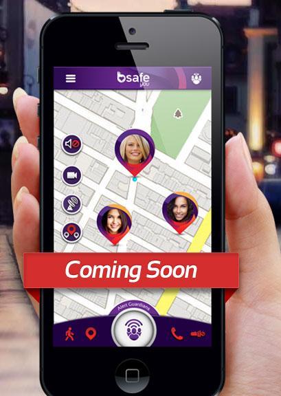 Denne appen er avbildet på de nye hjemmesidene til bSafe. Appen ser ut til å by på omtrent de samme tjenestene som tilbys via Follow Me Home i dag. Follow Me Home har vært et samarbeidsprosjekt mellom bSafe og G4S Digital Security.