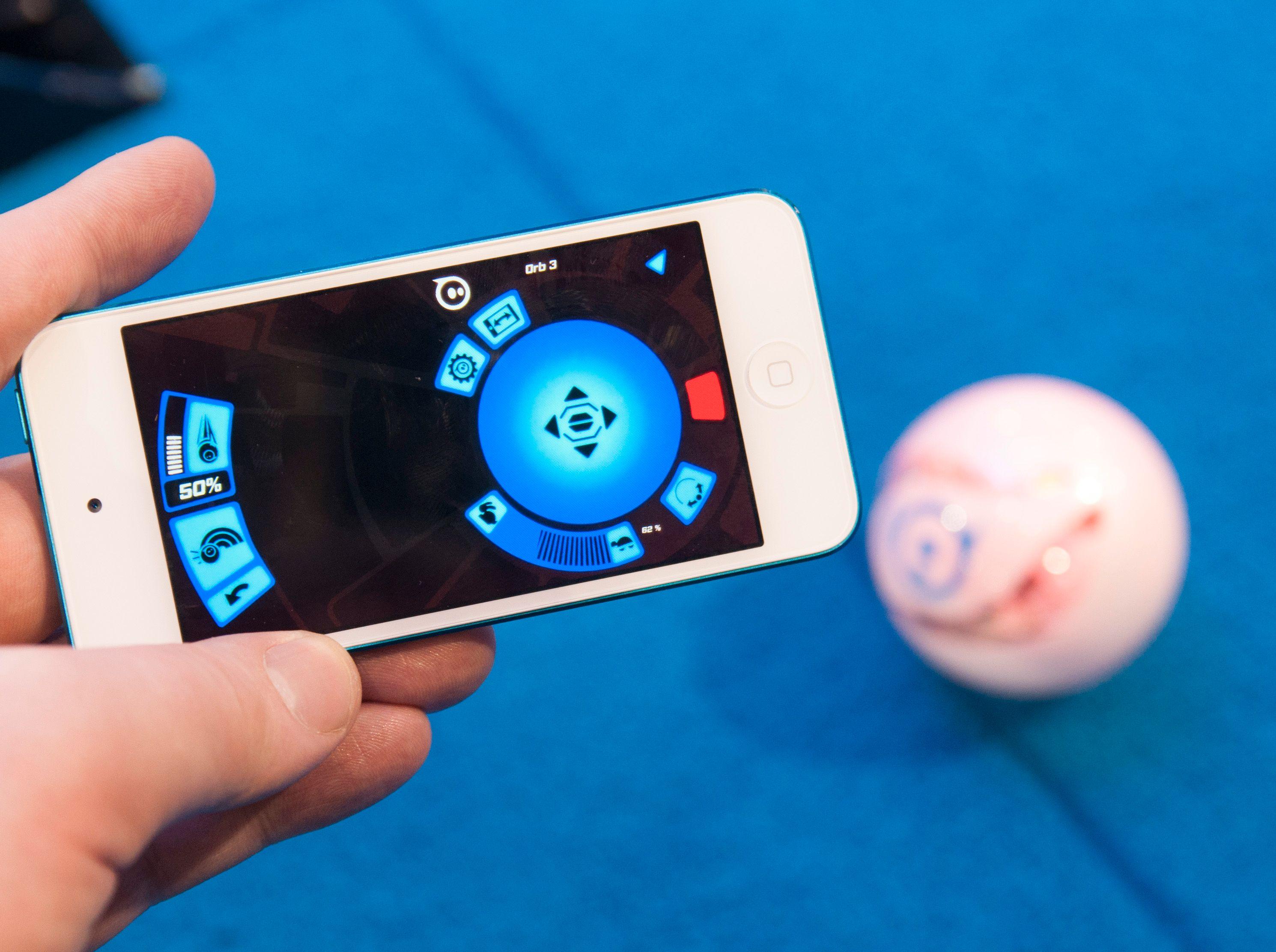 Slik ser Orbotix-appen ut nå.Foto: Finn Jarle Kvalheim, Amobil.no