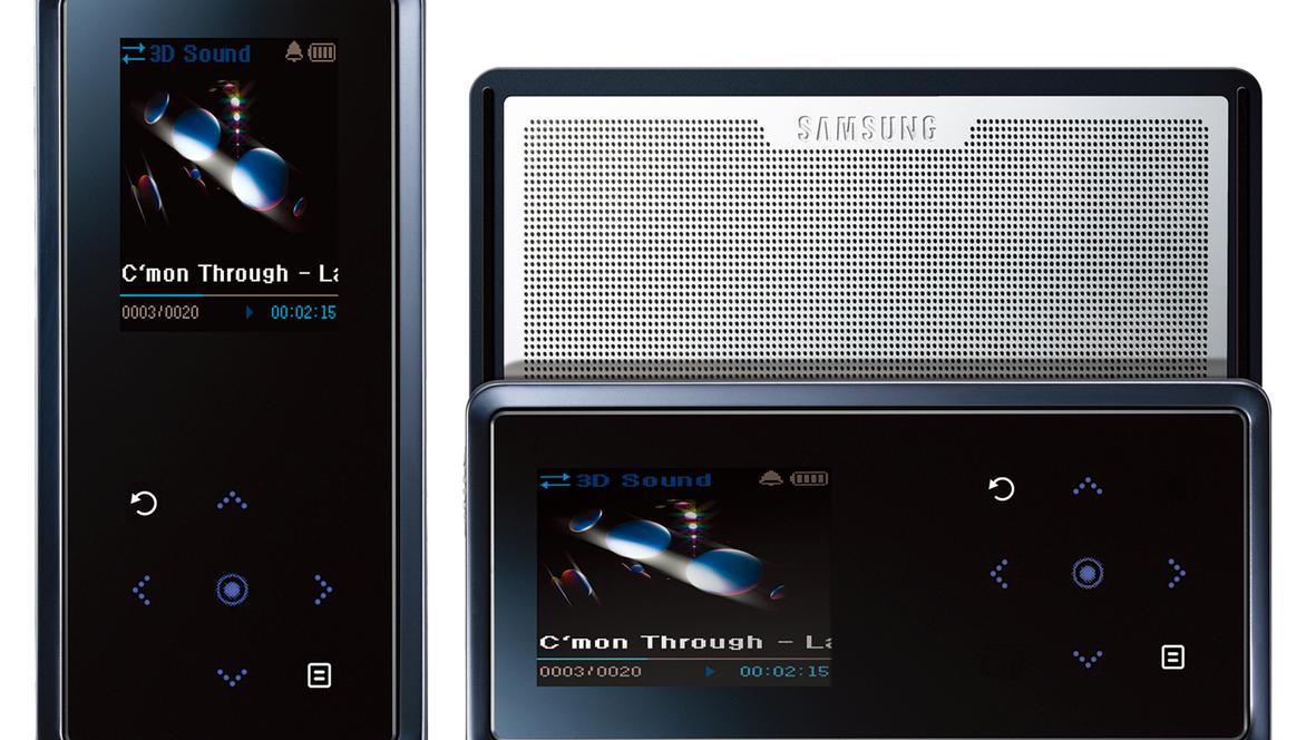 MP3-spiller med høyttalere
