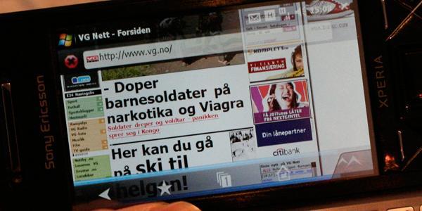 Opera Mobile.