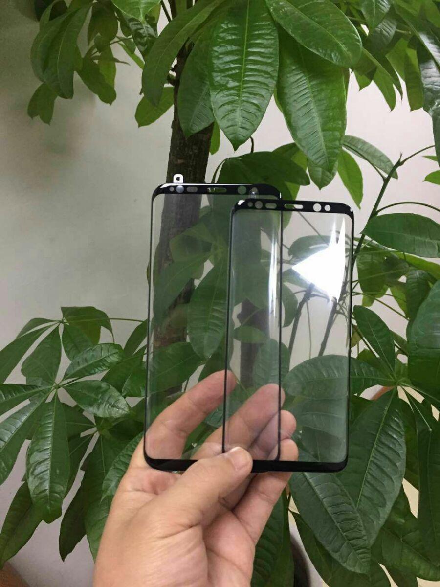 S8 skal komme i to størrelser med heldekkende skjerm. Dette er et tidligere lekket bilde av det som skal være skjermbeskyttere til S8.