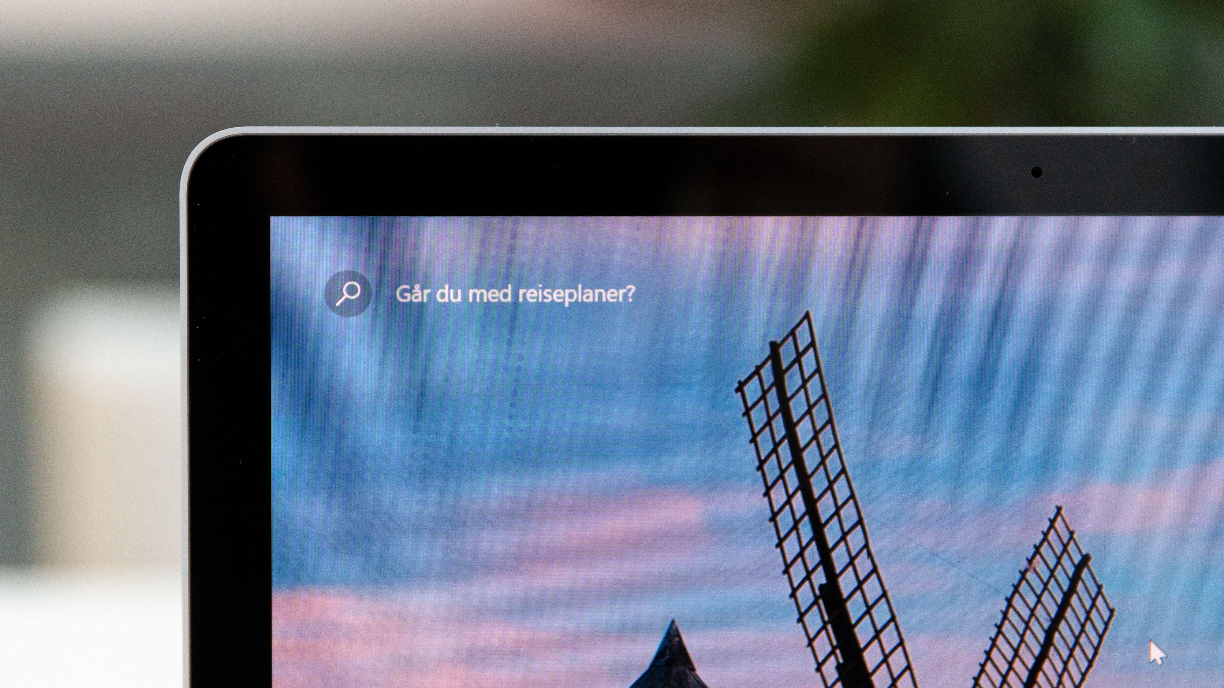 De sorte rammene er litt tykkere enn hos andre maskiner, men rammer inn en fantastisk skjerm.