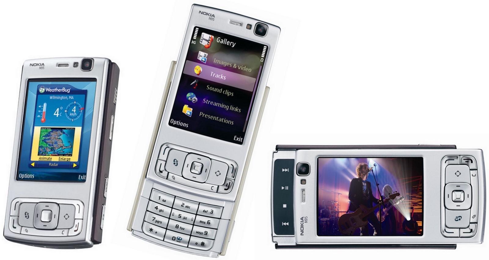 Nokias kanskje absolutte høydepunkt - modellen N95 med Symbian S60.