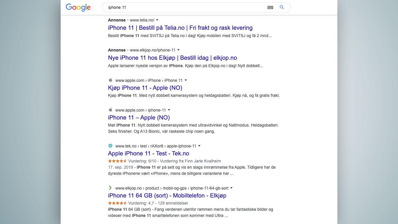 Google gjør det enda vanskeligere å skille reklame fra vanlige søkeresultat