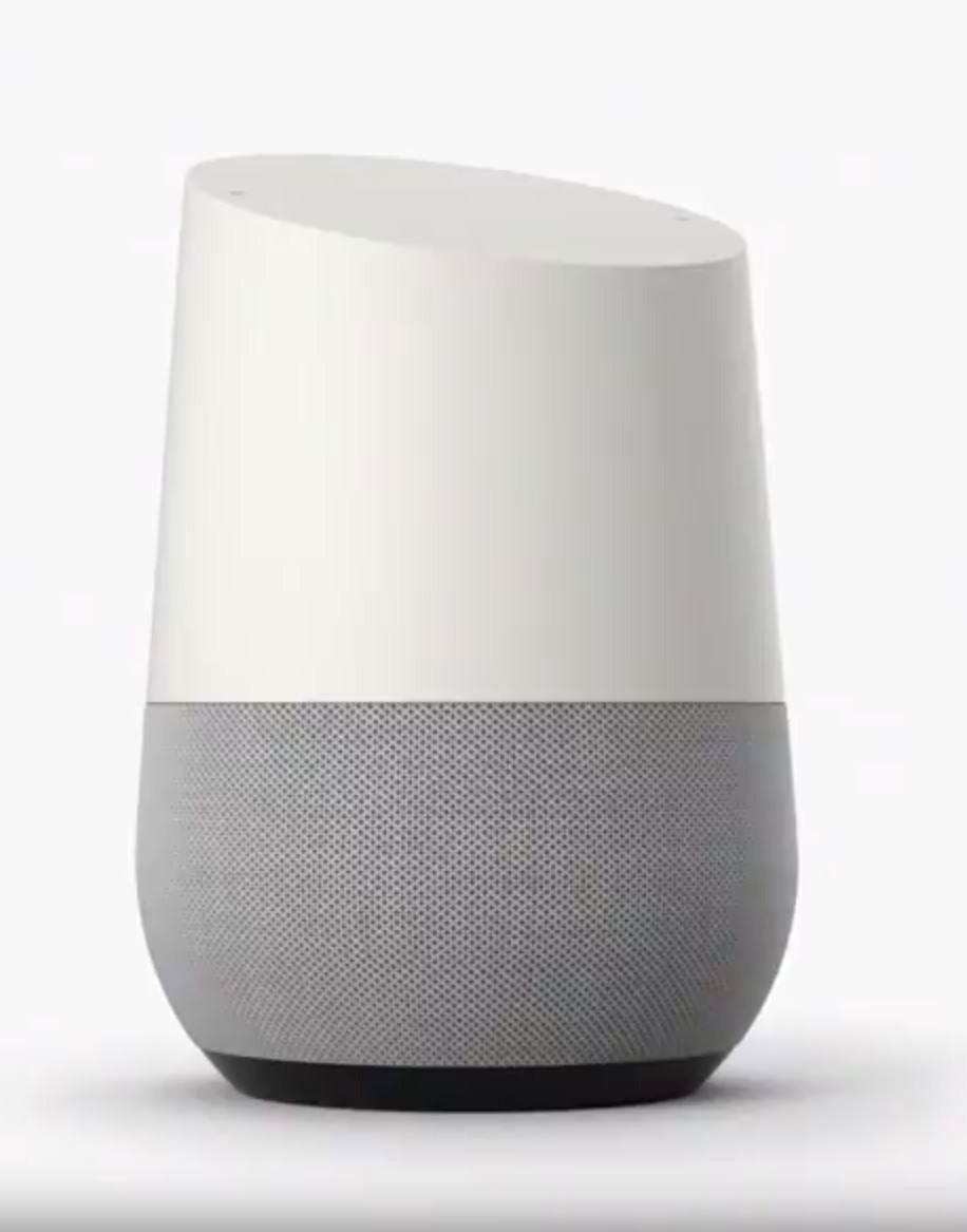 Google Home skal ifølge selskapet være utseendemessig inspirert av vinglass og stearinlys.