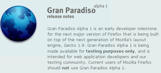 Firefox 3.0 Alpha sluppet