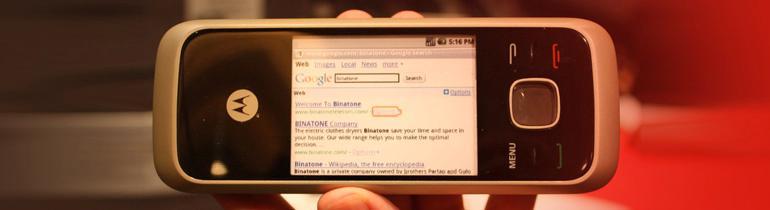 Trådløs telefon med Android og 240 MHz