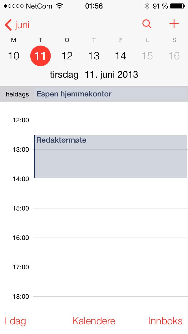 Den nye kalenderen har blitt svært så lekker og oversiktlig.Foto: Finn Jarle Kvalheim, Amobil.no