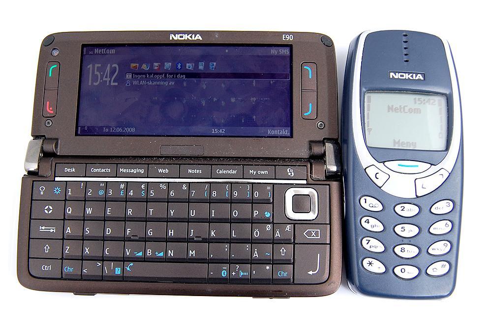Hva skal du med et beist som Nokia E90 når du kan få nesten alt du trenger i en Nokia 3310?