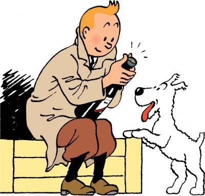 Tintin og hans trofaste følgesvenn Terry.