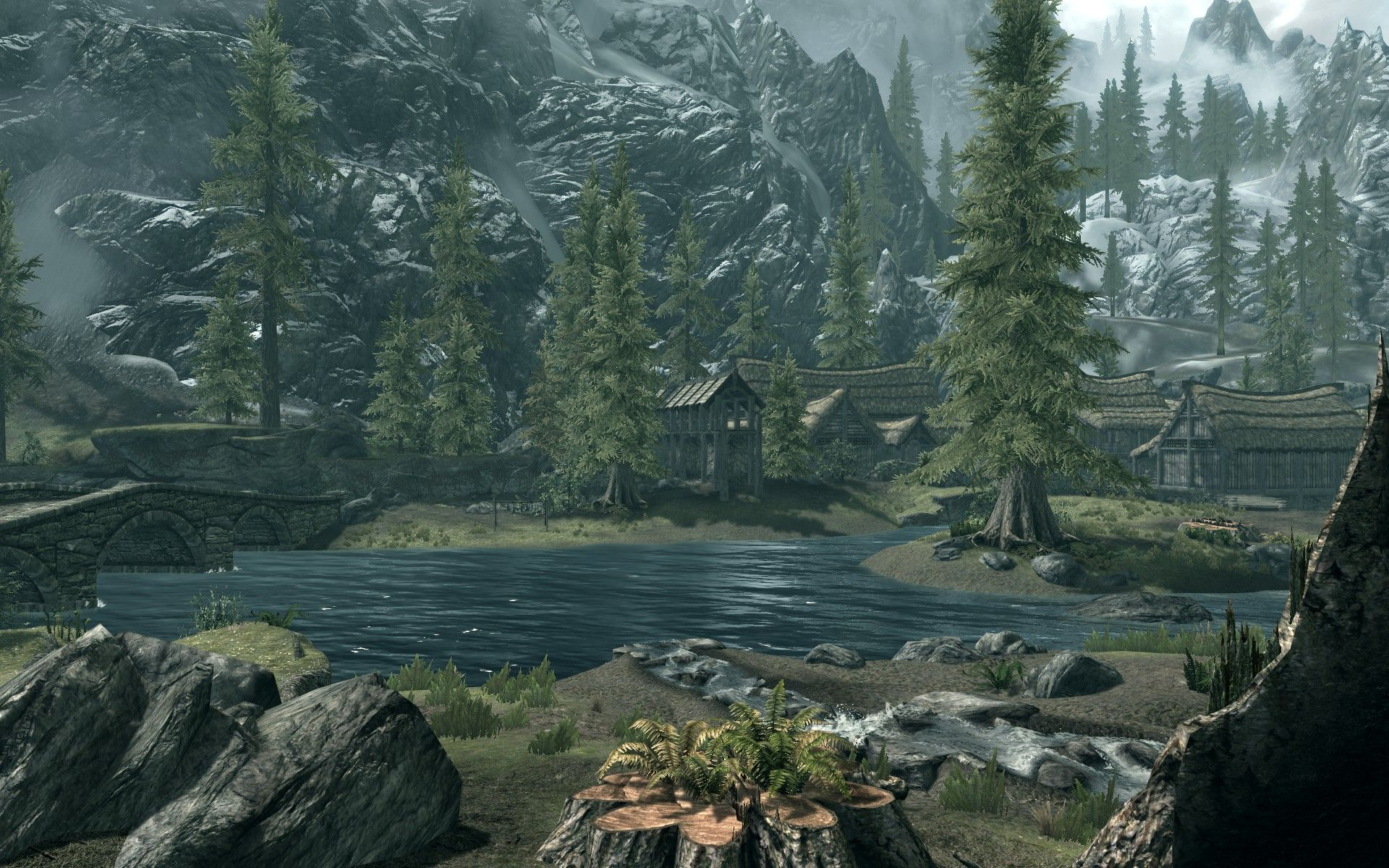 Med HD-teksturer på plass er egentlig Skyrim ganske lekkert.