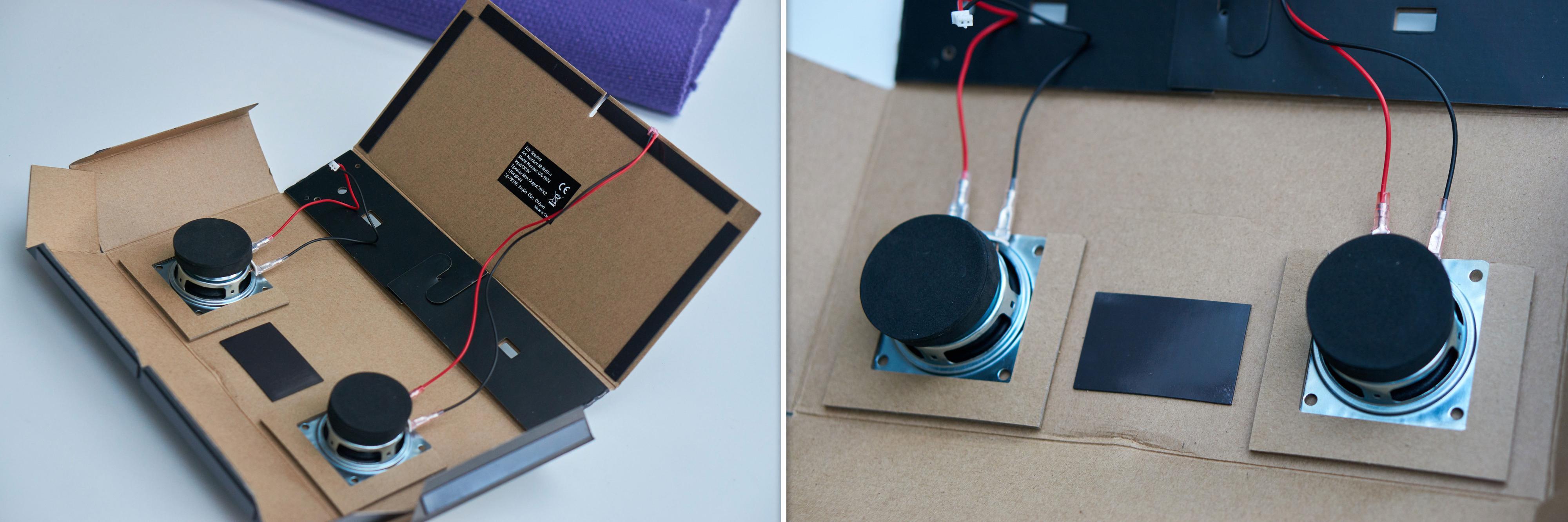 Det er forskjellig lengde på ledningene; pass på at de korte sitter i elementet til venstre.
