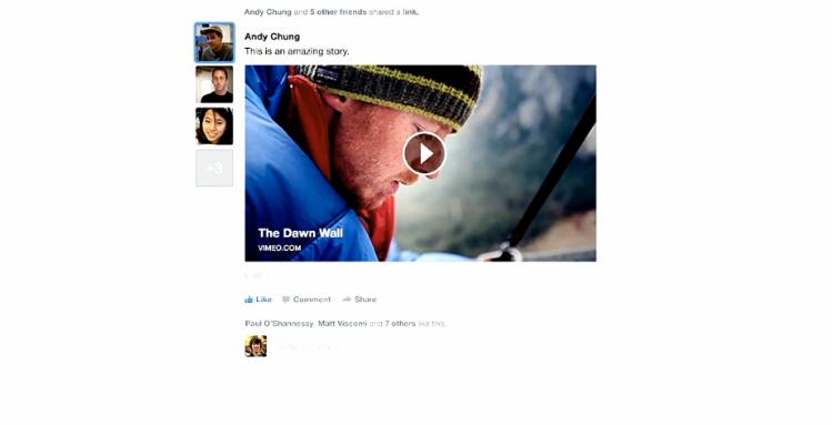 Videoer blir større, med kommentarer på toppen.Foto: Facebook