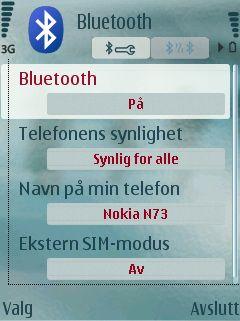 Bluetooth må være aktivert før du kan bruke funksjonene.