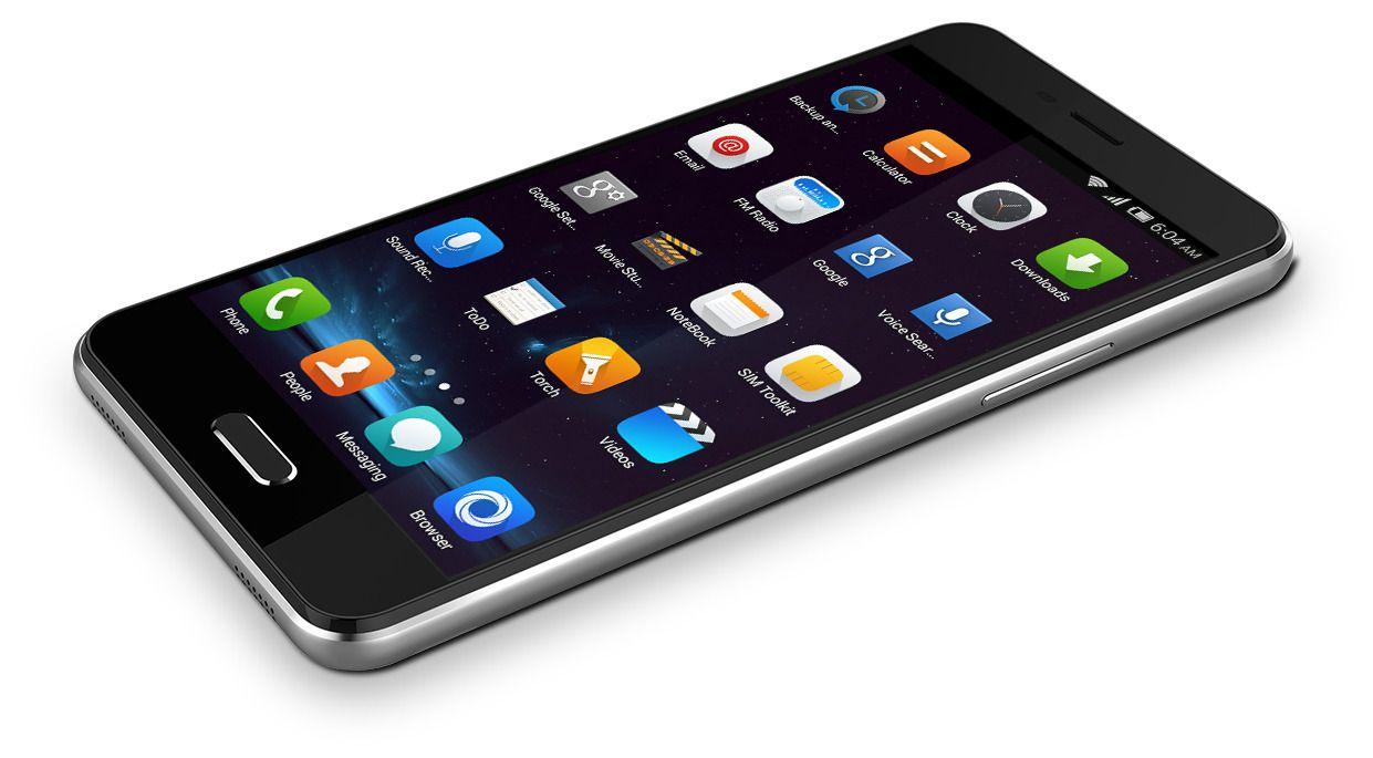Slik ser nye Elephone P5000 ut. Til tross for at batteriet er nesten dobbelt så stort om i de fleste av konkurrentene, er telefonen bare 9,3 millimeter tykk.Foto: Elephone