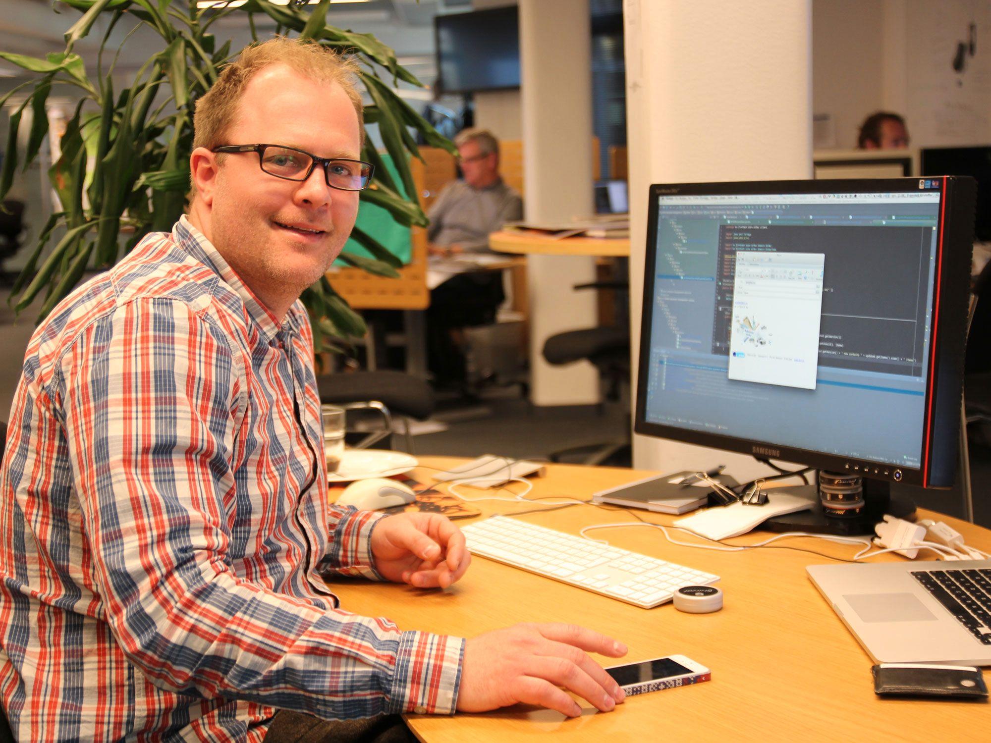 Kristoffer Framstad er leder for teamet som vedlikeholder og utvikler FINN Torget.Foto: Atle Skretting