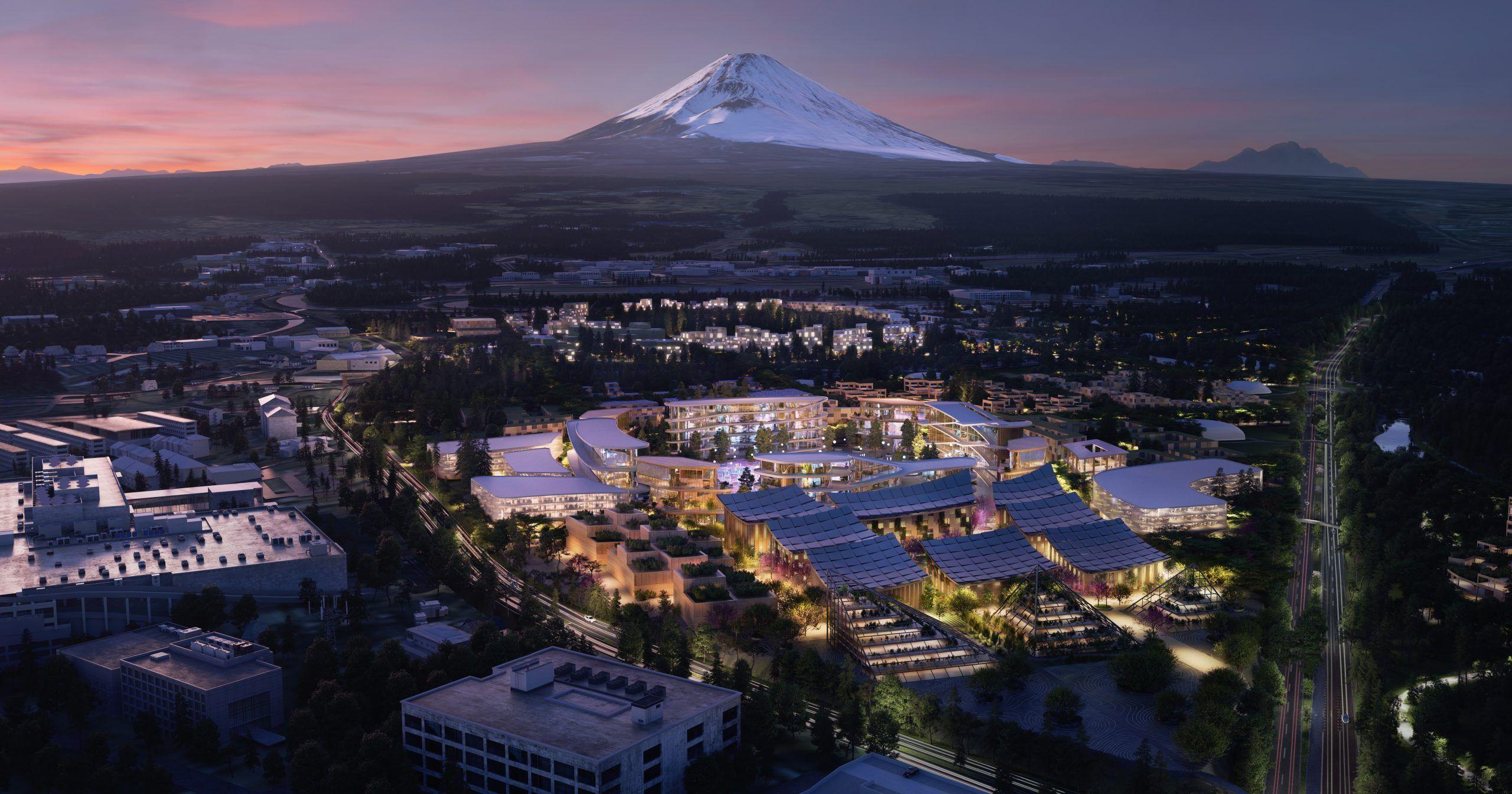 Ved foten av Mount Fuji skal Toyota bygge sin såkalte Woven City. Her skal løsninger for transport og